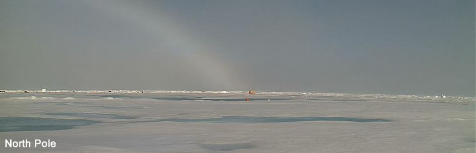 North Pole with rainbow on July 5, 2010