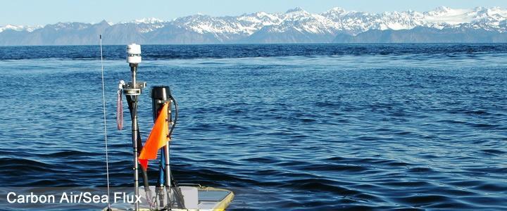 Instrumented wave glider with Alaska glacier - Evans