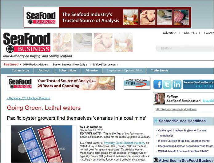 SeaFood Business article