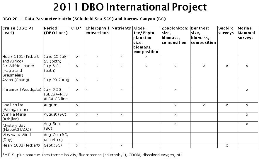 2011 DBO International Project
