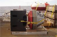 PICO buoy on a pallet, awaiting deploymnet