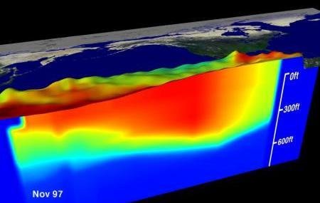 El Nino temperatures and sea level in the tropical Pacific Ocean