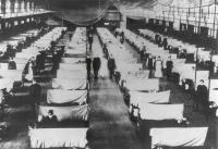 Influenza patients during the 1918 flu pandemic in Iowa. [Credit: Office of the Public Health Service Historian] from http://1918.pandemicflu.gov/documents_media/06.htm