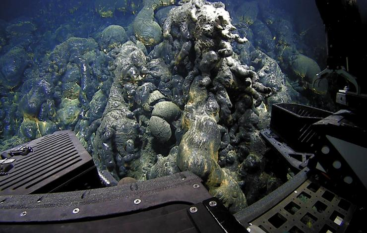 ROV SuBastian sampling new lava