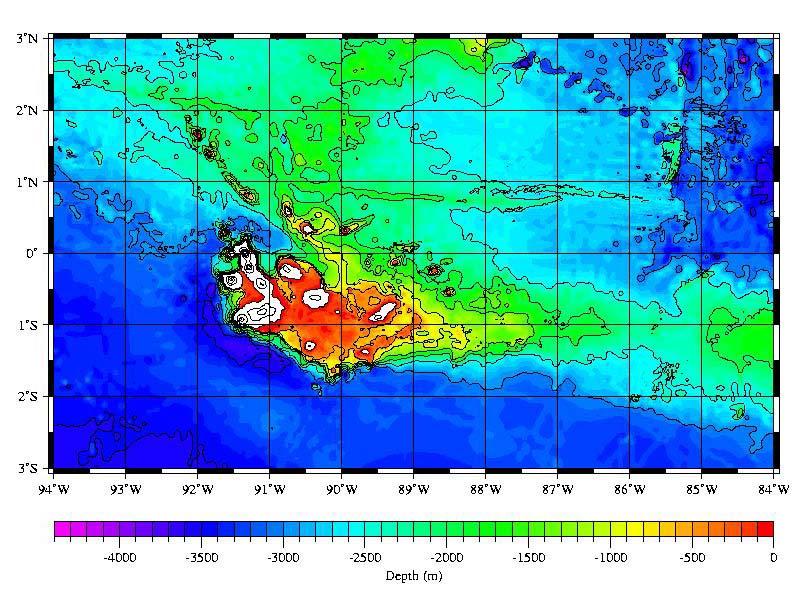 Ocean Floor Elevation : Eoi galapagos bathymetry