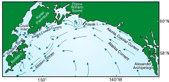 Afbeeldingsresultaat voor The Alaska Current en de Alaska Coastal Current
