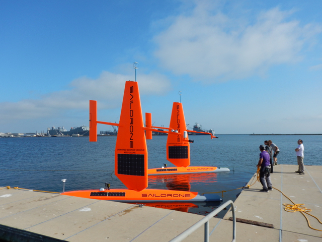Saildrones at Dock