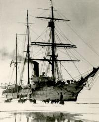 USCGC Bear in the ice