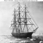 Painting of CSS Shenandoah in the Arctic ice, 1865