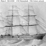 CSS Shenandoah. 19th Century artwork.
