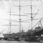 CSS Shanandoah hauled out for repairs at Melbourne, Australia, 1865