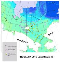 RUSALCA 2012 Leg 2 Station Locations