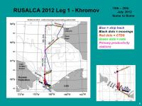 RUSALCA 2012 Leg 1 Station Locations