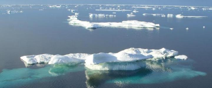 RUSALCA 2012 Multi-year ice fragments in the Chukchi Sea in late summer. Photo by D. Petrova