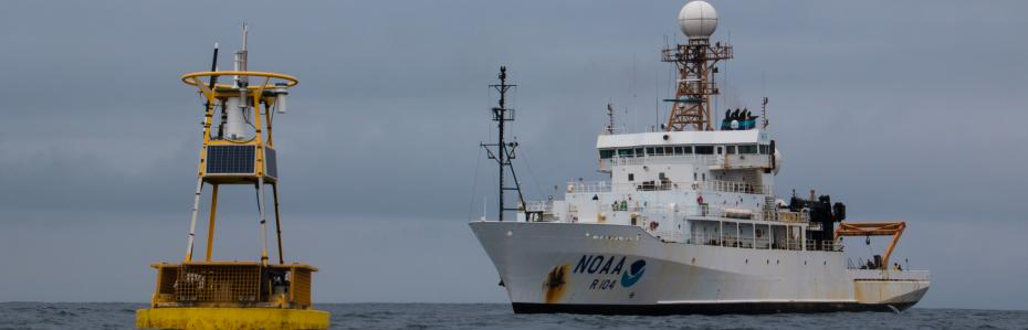 NOAA Ship Ronald H. Brown with Buoy