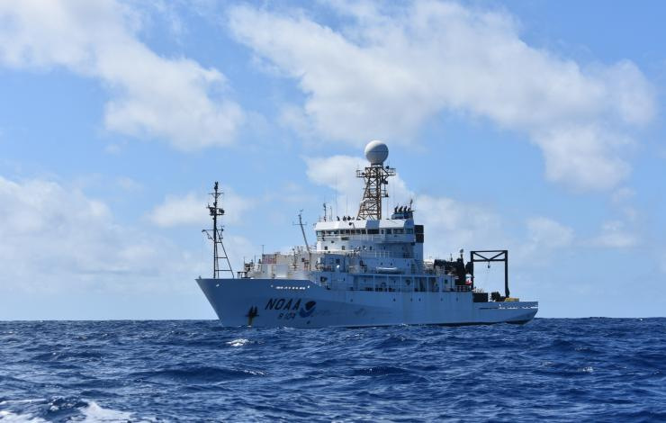 NOAA Ship Ronald H. Brown during ATOMIC
