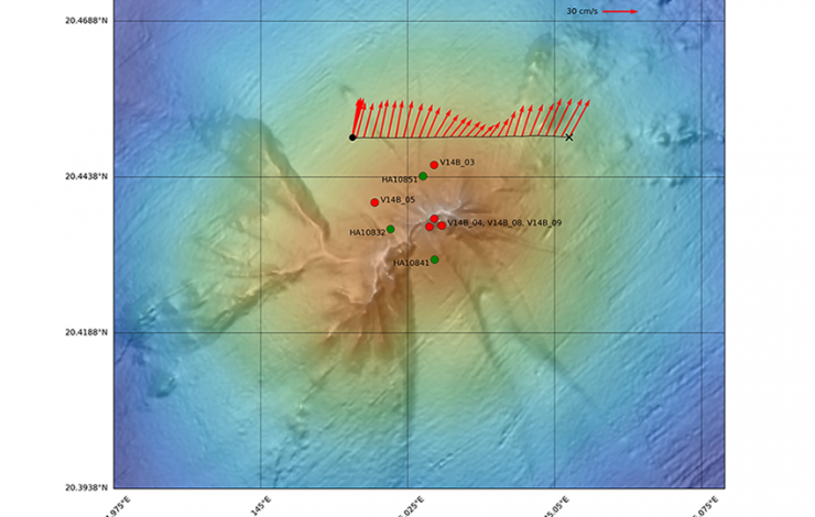 Bathymetric map of Ahyi Seamount