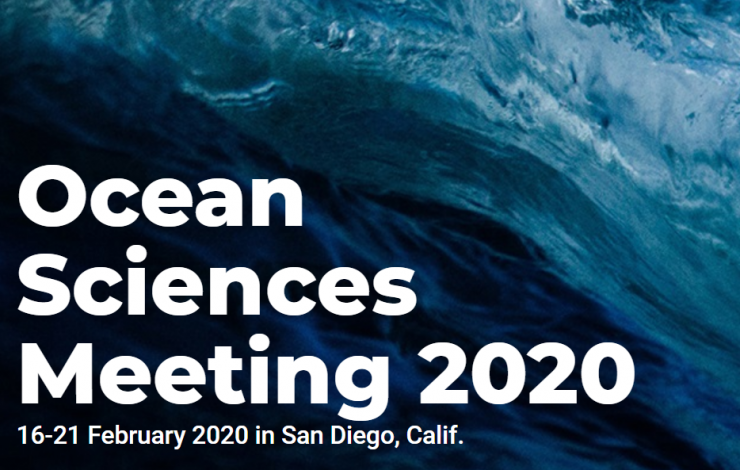 Ocean Sciences Meeting Banner with Wave Background