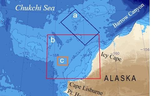 Projected Onset Of Sea Ice Freezeup On The Chukchi Sea - Oceanographic map