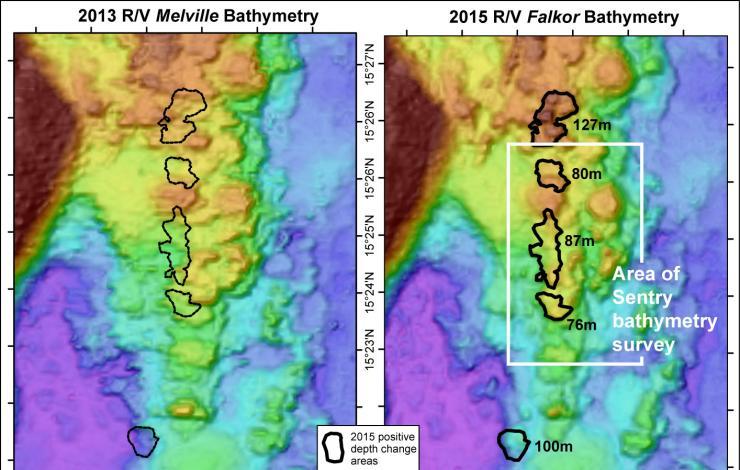 Bathymetry map