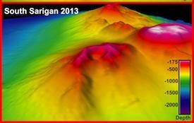 underwater map of South Sarigan