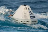 Photo of a DART ETD buoy deployed at sea