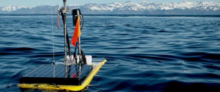 photo of wave glider in Alaska