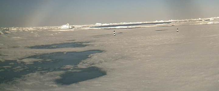 Sea ice July 4, 2011 from North Pole Web Cam