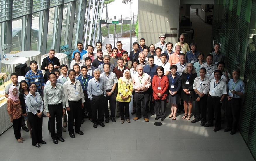 Group photo, The First International YMC Workshop, Singapore, 27-30 January 2015